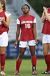 22 November 2013: Arkansas' Jeriann Okoro. The University of Arkansas Razorbacks played the Saint John's University Red Storm at Koskinen Stadium in Durham, NC in a 2013 NCAA Division I Women's Soccer Tournament Second Round match. Arkansas won the game 1-0.