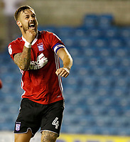 Ipswich Town's Luke Chambers gees on the fans at the end of the Sky Bet Championship match between Millwall and Ipswich Town at The Den, London, England on 15 August 2017. Photo by Carlton Myrie.