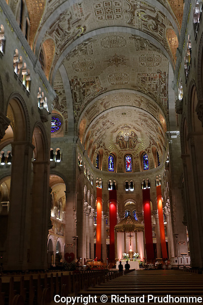 Interior of the Shrine of Sainte-Anne-de-Beaupre in Quebec, Canada