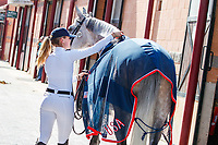 USA-Chloe Reid presents Souper Shuttle during the Horse Inspection. 2019 ESP-CSIO Barcelona - Longines FEI Nations Cup Jumping Final. Wednesday 2 October. Copyright Photo: Libby Law Photography