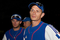 21 June 2011: Fabien Proust of Team France is seen during Czech Republic 3-1 win over France, at the 2011 Prague Baseball Week, in Prague, Czech Republic.