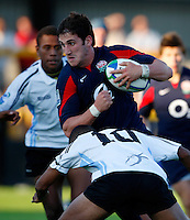 Photo: Richard Lane/Richard Lane Photography.England U20 v Fiji U20. IRB U20 World Championships. 05/06/2008. England's Matthew Cox attacks.