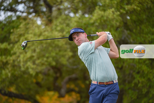 Chase Wright (USA) watches his tee shot on 2 during day 1 of the Valero Texas Open, at the TPC San Antonio Oaks Course, San Antonio, Texas, USA. 4/4/2019.<br /> Picture: Golffile   Ken Murray<br /> <br /> <br /> All photo usage must carry mandatory copyright credit (© Golffile   Ken Murray)