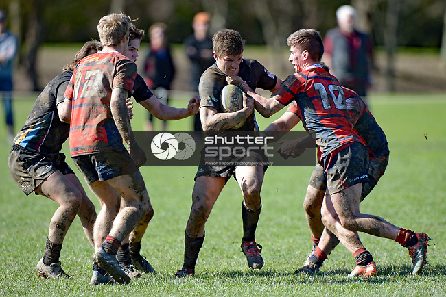 NELSON, NEW ZEALAND - August 12: UC Championship, Waimea Combined v Ashburton College, August 12, 2017, Waimea College, Nelson, New Zealand. (Photo by: Barry Whitnall Shuttersport Limited)