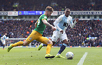 Preston North End's Sean Maguire under pressure from Blackburn Rovers' Amari'i Bell<br /> <br /> Photographer Rich Linley/CameraSport<br /> <br /> The EFL Sky Bet Championship - Blackburn Rovers v Preston North End - Saturday 9th March 2019 - Ewood Park - Blackburn<br /> <br /> World Copyright © 2019 CameraSport. All rights reserved. 43 Linden Ave. Countesthorpe. Leicester. England. LE8 5PG - Tel: +44 (0) 116 277 4147 - admin@camerasport.com - www.camerasport.com