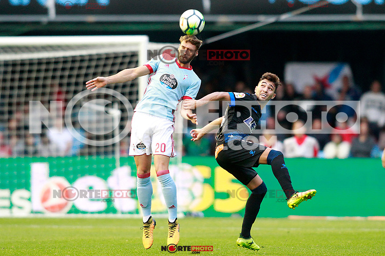 RC Celta de Vigo's Sergi Gomez (l) and Deportivo Alaves' Munir El Haddadi during La Liga match. September 10,2017. (ALTERPHOTOS/Acero) /NortePhoto.com
