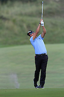 Jose-Filipe Lima (POR) on the 9th during Round 2 of the KLM Open at Kennemer Golf &amp; Country Club on Friday 12th September 2014.<br /> Picture:  Thos Caffrey / www.golffile