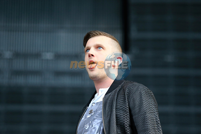 Plan B on stage during Slane Eminem Concert 2013. 17th August 2013.<br /> (Photo:Eoin Clarke/www.newsfile.ie)