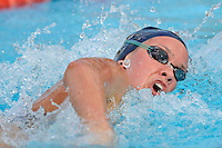 15 October 2010:  FIU's Mary Boucher competes in the 500 yard freestyle during the meet between the FIU Golden Panthers and the University of Miami Hurricanes at the Norman Whitten Student Union Pool in Coral Gables, Florida.