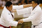 (L-R) Yusei Ogawa, Takuhito Ohara, September 14, 2014 - Judo : All Japan Junior Judo Championships Men's +100kg Final at Saitama Prefectural Budokan, Saitama, Japan. (Photo by Yusuke Nakanishi/AFLO SPORT) [1090]