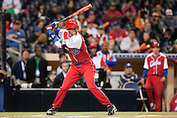 16 March 2009: #28 Hector Olivera of Cuba is seen at bat during the 2009 World Baseball Classic Pool 1 game 3 at Petco Park in San Diego, California, USA. Cuba wins 7-4 over Mexico.