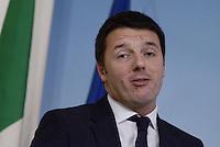 Roma, 12 Marzo 2014<br /> Palazzo Chigi<br /> Il presidente del Consiglio Matteo Renzi annuncia i nuovi provvedimenti del Governo a sostegno dell'economia, lavoro,scuola e casa, durante una conferenza stampa al termine del consiglio dei Ministri n°6.<br /> Italian premier Renzi announces new measures to support the economy.