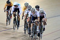 Dylan Kennett of Waikato BOP leads out front in the Elite Men Omnium 3, Elimination, at the Age Group Track National Championships, Avantidrome, Home of Cycling, Cambridge, New Zealand, Saturday, March 18, 2017. Mandatory Credit: © Dianne Manson/CyclingNZ  **NO ARCHIVING**
