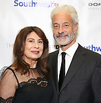 Paula Wagner & husband Rick Nicita during a reception for Theatre Forward's Chairman's Awards Gala at the Pierre Hotel on April 8, 2019 in New York City.
