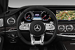 Car pictures of steering wheel view of a 2018 Mercedes Benz S Class Base 4 Door Sedan