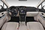 Stock photo of straight dashboard view of a 2015 Subaru Base Impreza 5 Door Hatchback
