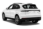 Car pictures of rear three quarter view of a 2019 Porsche Cayenne Base 5 Door SUV angular rear