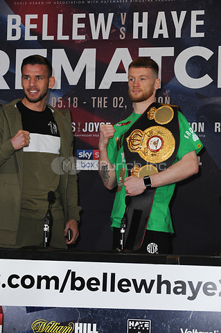 The Undercard and Main Event press conference for Saturday May 5th's boxing at the 02 arena in London. May 3, 2018. Credit: Matrix/MediaPunch ***FOR USA ONLY***<br />