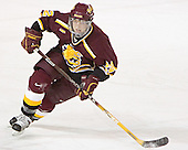 Adam Miller - The Boston College Eagles and Ferris State Bulldogs tied at 3 in the opening game of the Denver Cup on Friday, December 30, 2005, at Magness Arena in Denver, Colorado.  Boston College won the shootout to determine which team would advance to the Final.