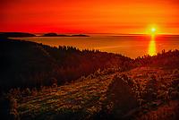Sunrise, Cabot Trail, near Ingonish Ferry, Cape Breton Island, Nova Scotia, Canada