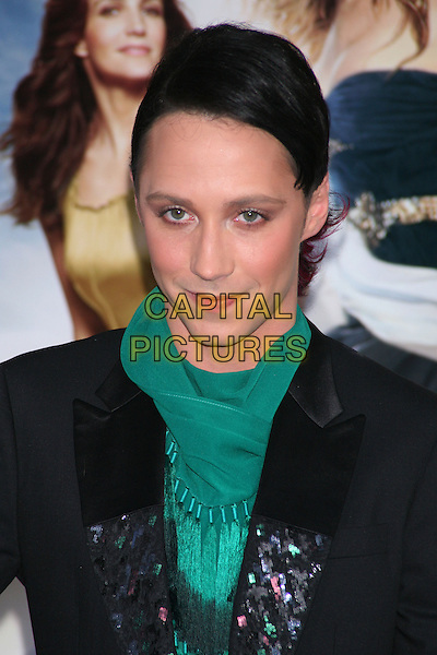 JOHNNY WEIR.Attending the World Film Premiere of 'Sex and the City 2' at Radio City Music Hall in New York City, New York, NY, USA. .May 24th, 2010.SATC headshot portrait black  green scarf .CAP/LNC/TOM.©TOM/LNC/Capital Pictures.