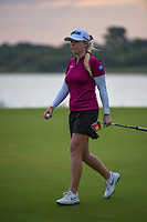 Stephanie Meadow (NIR) after sinking her long par-saving putt on 11 during the round 2 of the Volunteers of America Texas Classic, the Old American Golf Club, The Colony, Texas, USA. 10/4/2019.<br /> Picture: Golffile | Ken Murray<br /> <br /> <br /> All photo usage must carry mandatory copyright credit (© Golffile | Ken Murray)