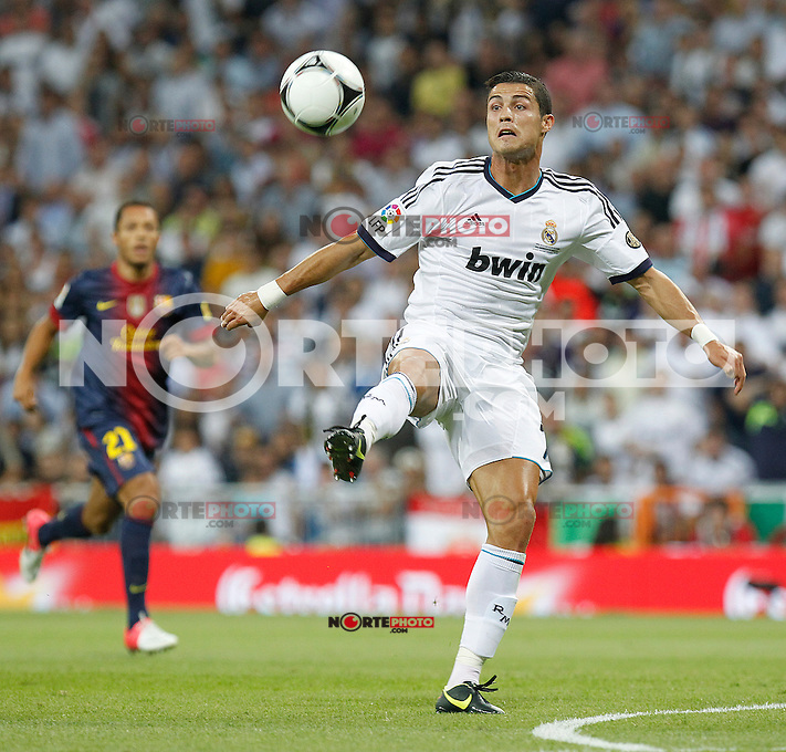 Real Madrid's Cristiano Ronaldo during Spanish Supercup 2nd match on august 29 2012...Photo: Alex Cid-Fuentes / ALFAQUI /NortePhoto.com<br /> <br /> **CREDITO*OBLIGATORIO** <br /> *No*Venta*A*Terceros*<br /> *No*Sale*So*third*<br /> *** No*Se*Permite*Hacer*Archivo**<br /> *No*Sale*So*third*