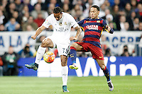 Real Madrid's Danilo Luiz da Silva (l) and FC Barcelona's Neymar Santos Jr during La Liga match. November 21,2015. (ALTERPHOTOS/Acero) /NortePhoto