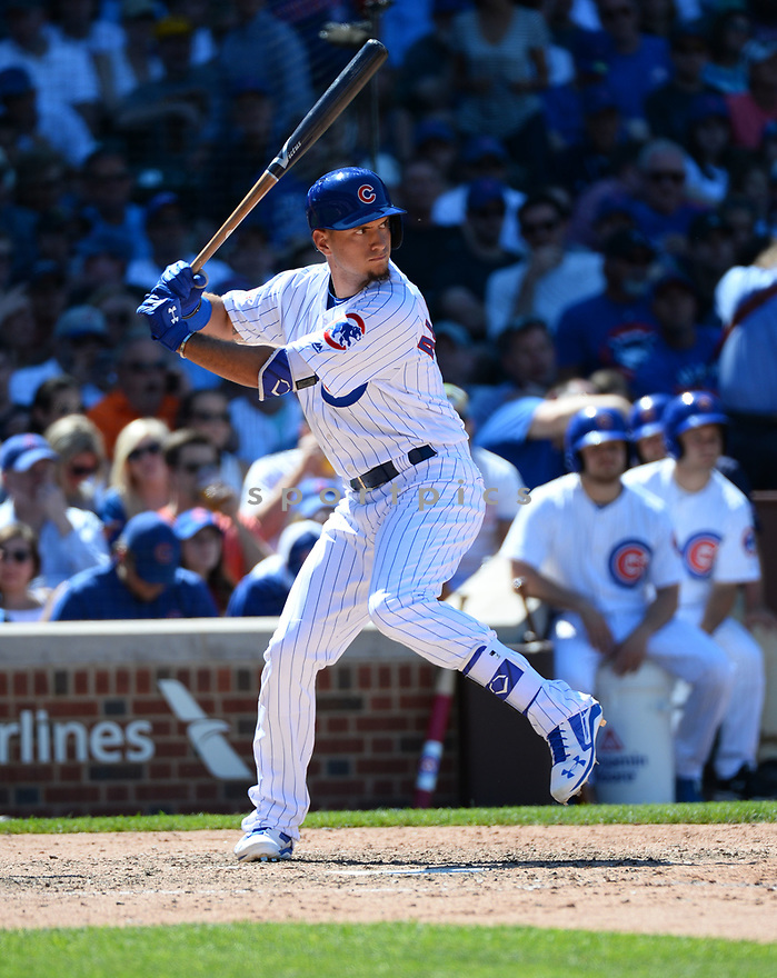 Chicago Cubs Albert Almora Jr. (5) during a game against the Pittsburgh Pirates on June 17, 2016 at Wrigley Field in Chicago, IL. The Cubs beat the Pirates 6-0.