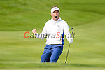 Europe's Ian Poulter chips in and celebrates sinking the ball <br /> <br /> Photographer Ian Cook/CameraSport<br /> <br /> International Golf - 2014 Ryder Cup - Day 2 - Saturday 27th September 2014 - PGA Centenary Course - Gleneagles Hotel - Auchterarder, Scotland<br /> <br /> &copy; CameraSport - 43 Linden Ave. Countesthorpe. Leicester. England. LE8 5PG - Tel: +44 (0) 116 277 4147 - admin@camerasport.com - www.camerasport.com