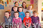 Children in Ballinskelligs can now begin their education through Irish with the new pre-school in the region which aims to help build the Irish Language. The Nai?onra opened its doors last September and is holding an open  day to encourage more children to attend the centre. .Back L-R Michelle Ni? Lionacha?in and Shelley Ni? Dhuibhir .Middle L-R Miche?al Scanlon, Tadhg O? Laoighre and Fintan O? Ha?rtaigh .Front L-R Shane O? Gu?ga?in, India Duff, Quintin Schmid and Hannah Ni? Dhuibhir Ni? Fhoghlu? of Nai?onra Baile na Sceilg