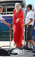 Rita Ora leaving Roberto Cavalli's yacht in Cannes - 67th Cannes Film Festival - France