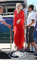 Rita Ora leaving Roberto Cavalli's yacht in Cannes - 67th Cannes Film Festival - France