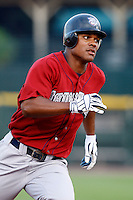 August 3, 2009:  Left Fielder Michael Taylor of the Lehigh Valley IronPigs runs the bases during a game at Frontier Field in Rochester, NY.  Lehigh Valley is the International League Triple-A affiliate of the Philadelphia Phillies.  Photo By Mike Janes/Four Seam Images