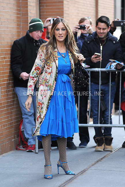 www.acepixs.com<br /> November 28, 2016 New York City<br /> <br /> Sarah Jessica Parker made an appearance at The View on November 28, 2016 in New York City.<br /> <br /> Credit: Kristin Callahan/ACE Pictures<br /> <br /> <br /> Tel: (646) 769 0430<br /> e-mail: info@acepixs.com<br /> web: http://www.acepixs.com