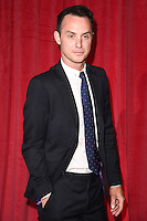 Gregory Finnegan<br /> arrives for the British Soap Awards 2016 at Hackney Empire, London.<br /> <br /> <br /> &copy;Ash Knotek  D3124  28/05/2016