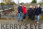 Casements Ave residents with the problem on the river on Monday which is causing concert to them. <br /> L to r: Michael Doran, Carmel Roche, Diane O&rsquo;Shea,  Susan Houlihan and Danny McElligott.