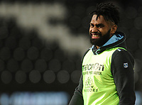 Glasgow Warriors' Nikola Matawalu during the pre match warm up<br /> <br /> Photographer Kevin Barnes/CameraSport<br /> <br /> Guinness Pro14 Round 8 - Ospreys v Glasgow Warriors - Friday 2nd November 2018 - Liberty Stadium - Swansea<br /> <br /> World Copyright &copy; 2018 CameraSport. All rights reserved. 43 Linden Ave. Countesthorpe. Leicester. England. LE8 5PG - Tel: +44 (0) 116 277 4147 - admin@camerasport.com - www.camerasport.com