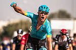 Magnus Cort Nielsen (DEN) Astana Pro Team wins Stage 4 of the 2018 Tour of Oman running 117.5km from Yiti (Al Sifah) to Ministry of Tourism. 16th February 2018.<br /> Picture: ASO/Muscat Municipality/Kare Dehlie Thorstad | Cyclefile<br /> <br /> <br /> All photos usage must carry mandatory copyright credit (&copy; Cyclefile | ASO/Muscat Municipality/Kare Dehlie Thorstad)