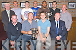 Pictured at the Killarney Athletic Awards night in Scotts Bar, Killarney on Saturday night were Alan O'Connor, senior manager, Martin Bennett, Gary Moynihan representing Lukas Polack, senior A player, Tom Tobin, back, Don O'Donoghue,  Sean O'Donoghue, youths manager, Jason Lyne, youth player of the year, Bafa Bartiarkz, senior B player, Ozzy Quadros, Senior B Manager, Eamon O'Donoghue and Shane Kelly.......................................Christy O'Mahony, captain Beaufort Golf club and Irene McCarthy, Lady Captain Beaufort Golf Club pictured with James Lucey and Sheila McCarthy, who were the winners in their Captain Prize Competition at the course on Sunday. Also pictured are Frank Coffey, President, Sean Coffey, vice captain, Teresa Clifford, Margaret Guerin, Josephine O'Shea, Gretta Hurley, Renee Clifford, Peggy O'Riordan, Maureen Rooney, Mary Barrett, Robin Suter, Gearoid Keating, Jim Hurley, Gabhan O'Loughlin, Rory Browne, Mike Quirke, Matt Templeman and Simon Rainsford...Picture: Ger Cronin LMPA (087) 0522010....PR SHOT..NO REPRODUCTION FEE.............................................................................................................................................................................................................................................