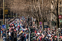 race start <br /> <br /> 110th Milano-Sanremo 2019 (ITA)<br /> One day race from Milano to Sanremo (291km)<br /> <br /> ©kramon
