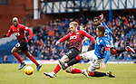 16.03.2019 Rangers v Kilmarnock: Rory McKenzie and James Tavernier