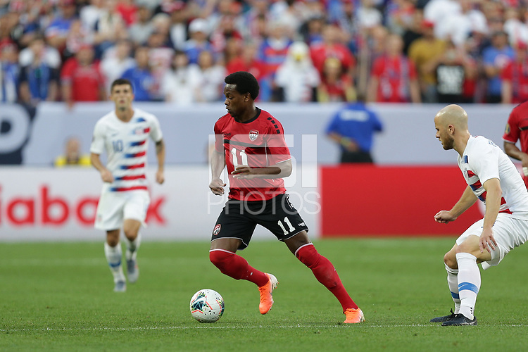 CLEVELAND, OHIO - JUNE 22: Levi Garcia #11 during a 2019 CONCACAF Gold Cup group D match between the United States and Trinidad & Tobago at FirstEnergy Stadium on June 22, 2019 in Cleveland, Ohio.