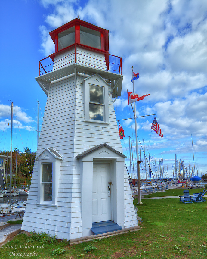 The Old Lighthouse in Oakville built in 1875 and preserved / moved to this location from the east pier in 1960.