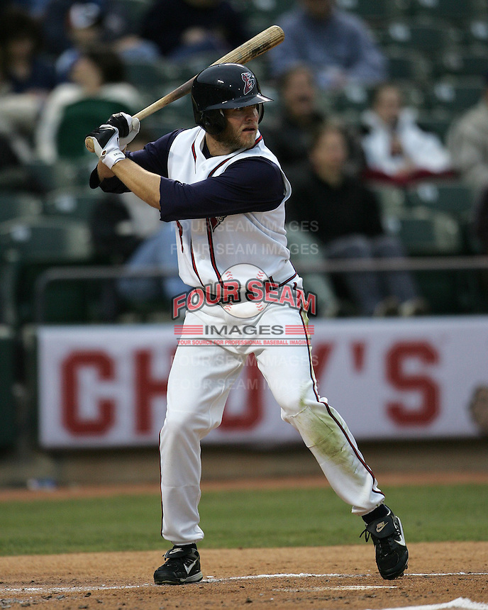 Round Rock Express SS Eric Bruntlett during the 2007 Pacific Coast League Season. Photo by Andrew Woolley/ Four Seam Images.