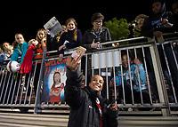 Boyds, MD - Saturday May 20, 2017: Mallory Pugh and fans during a regular season National Women's Soccer League (NWSL) match between the Washington Spirit and FC Kansas City at Maureen Hendricks Field, Maryland SoccerPlex.