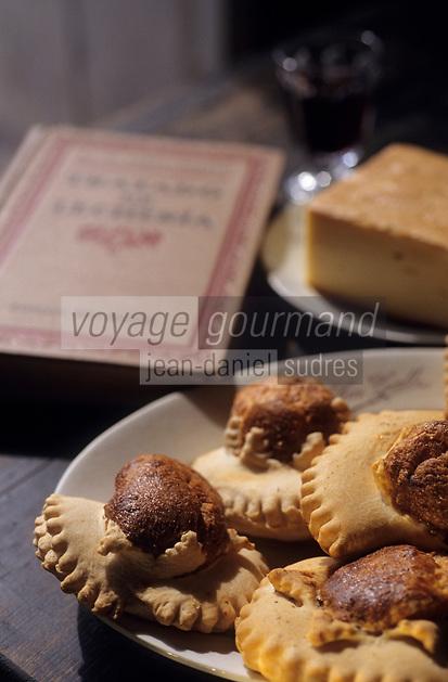 Europe/Espagne/Baléares/Minorque/Alaior : A la Finca Son Gall - Flaons au fromage de Mahon - Gâteaux salés