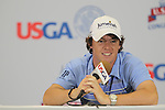 US Open 2011 Bethesda, MD. 17/6/11.Rorys McIlroy (NIR) speaking to reporters after the -5 under par round and -11 under for the tournament.on day two of the USGA US OPEN at Congressional country club, Bethesda, Washington..Picture Fran Caffrey/www.golffile.ie