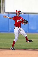 Illinois State Redbirds shortstop Josh Colon #1 during a game vs. the Xavier Musketeers at Chain of Lakes Stadium in Winter Haven, Florida;  March 5, 2011.  Illinois State defeated Xavier 7-6.  Photo By Mike Janes/Four Seam Images