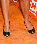 Actress Jordana Spiro 's shoes at the Turner Broadcasting TCA Party at The Oasis Courtyard at The Beverly Hilton Hotel on July 11, 2008 in Beverly Hills, California.